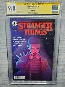CGC Graded 9.8 Stranger Things #4 Signed be Jen Bartel  Variant