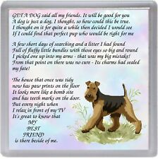 """Airedale Terrier Dog Coaster """"MY BEST FRIEND Poem ..."""" Novelty Gift by Starprint"""