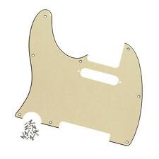 NEW 3Ply Cream Color Left-Hand Guitar Pickguard For Fender Telecaster Guitar