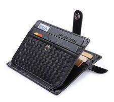 Portafoglio Porta Carte di Credito con Tasche in Pelle, RFID/NFC