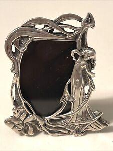 Vintage Art Nouveau Frame Sterling Silver Hallmarks Mini Photo Frame
