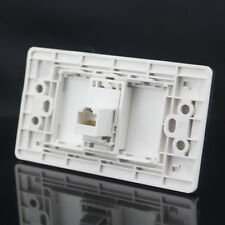 120MM One Port Cat5E Network Ethernet LAN RJ45 Outlet Panel Faceplate Adapter