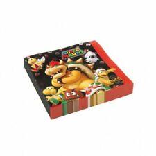 Super Mario Servietten 16 Stück Partydeko Kindergeburtstag Nintendo Party Deko