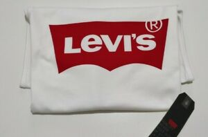 Levi's Men's Vest Batwing Graphic Red Logo Tank Top In White size S,M,L
