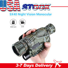 5x40 Infrared Night Vision Monocular 8Gb Dvr Telescopes for Hunting Surveillance