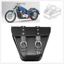 Black Motorcycle Saddle Bag Saddlebag PU Waterproof Motorbike Side Bag Tool Bag