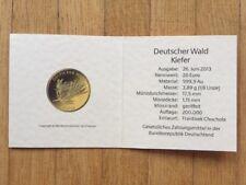 Zertifikat für 20 Euro Deutscher Wald Kiefer 2013 ohne Goldmünze