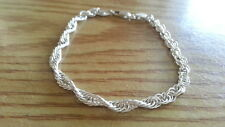 "Beautiful Sterling Silver 925 Circle Rolo Link Bracelet 8 1/8"" *B732"