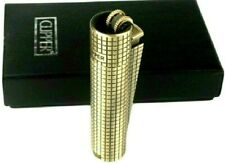 Clipper Metal Cigarette Lighter Soft Flame Refillable Butane Gas In Bronze Color