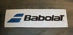 New Babolat Banner Flag 1.5' x 5' Tennis Racket Raquet Man Cave Pro Shop Club