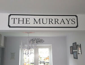 Personalised family name sign wall sticker