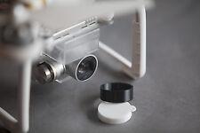 Flexible 3D printed White Lens Cap and Black Hood for the NEW DJI Phantom 3