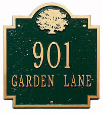 Whitehall Pensacola Oak Address Marker Personalized Sign Plaque in 17 Colors