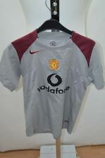NIKE MANCHESTER UNITED MAILLOT T SHIRT FOOT FOOTBALL JERSEY 10 ANS GRIS