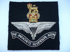 THE PARACHUTE REGIMENTAL ASSOCIATION POST 1952 QUEENS CROWN STYLE BLAZER BADGE.
