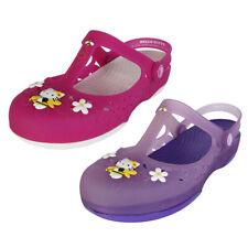 Crocs Womens Carlie Mary Jane Flower Hello Kitty Shoes