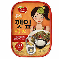 DONGWON SEASONED SPICY PERILLA-LEAVES 70G X 3PC Korean Canned Side Dish Food Can