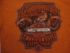 Harley-Davidson Motorcycles Minneapolis - St. Paul, MN Orange T Shirt Size S