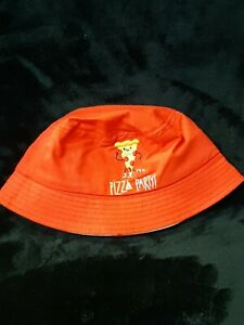 NEW Kids's Red Pizza Party Bucket Sun Pool Hat Kids One Size