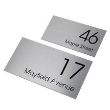 HOUSE SIGN 400 x 200 Street Name - PERSONALISED Address PLAQUE House NUMBER