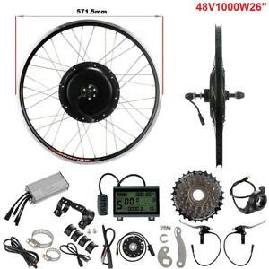 "E-Bike Conversion Kit 48V 1000W 26"" Heckmotor Schraubkanz Motor Kit Umbausatz"
