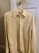 mens lacoste button down shirt size 40