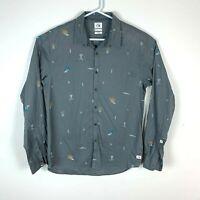 Quiksilver Long Sleeve Slim Fit Shirt Size Men's Medium