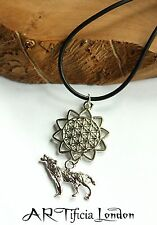 Wolf Sacred Geometry Mandala Necklace Spiritual Unisex Jewellery SPECIAL PRICE
