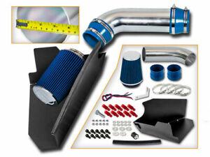 BCP BLUE 96-99 GMC C1500 K1500 Suburban 5.0/5.7 V8 Heat Shield Cold Air Intake