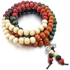 Bracciale Donna Mala Tibetano Collana Legno Rosario Buddista Multicolor +Omaggio