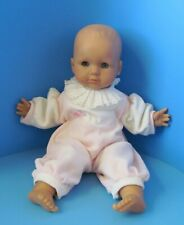 "Vintage 1988 Max Zapf Creation Baby Doll w/Outfit Sleepy Eyes Works 15"" L@K"