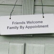 PORTA in legno giardino segno: * Amici Benvenuto Famiglia su appuntamento * Nuovo POST DAILY