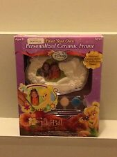 Disney tinkerbell ceramic picture frame paint your own