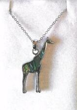Beautiful Inlaid Abalone Giraffe Necklace New in Box