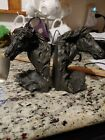 Equestrian+Horse+Head+Bookends++resin+faux+bronz.++