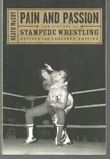 VERY RARE Stampede Wrestling  History Book Pain and Passion  ...Bret Hart