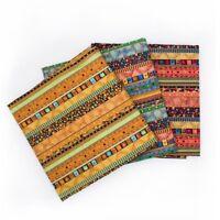 1M Stripe Tribal Ethnic Fabric Upholstery Curtains Boho DIY Cotton Linen Retro