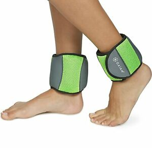 Gaiam Fitness Ankle Weights 5 lb Set for Women  2.5 lb each