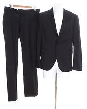 CINQUE Anzug Gr. DE 50 Herren Sakko Hose Slim Fit Business Suit Schwarz Wolle