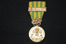 """MEDAILLE EXTREME ORIENT  AGRAFE """"INDOCHINE""""-FABRICATION LOCALE INDOCHINE"""