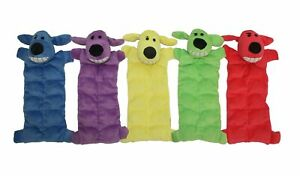 Multipet 12-Inch Squeaker Mat Soft Plush Dog Toy with 13 Squeakers, Color... New