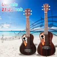 21/23'' Pro Concert Acoustic Electric Hawaii Ukulele Guitar Spruce Wood