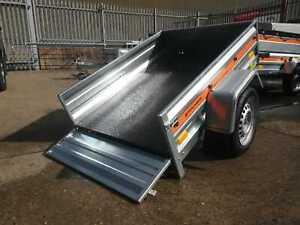 SINGLE AXLE TIPPING CAR TRAILER 4'9 x 3'5 750 kg