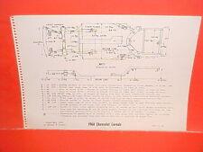 1964 CHEVROLET CORVAIR 500 700 MONZA SPYDER CONVERTIBLE FRAME DIMENSION CHART