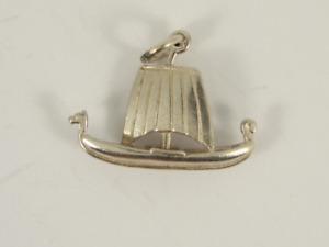 Viking Longboat Charm Sterling Silver Vintage 925 Charms 2.1g Jr7