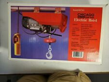 3/4 Hp Chicago Electric Hoist #40765 Up to 2000lb Single or 40000lb Double Cable