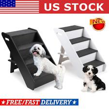 4 Steps pet ladder Ramp Non-Slip Stairs for Pet Dog Cat Climb Ramp Animal Ladder
