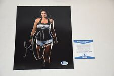 SEXY MMA UFC GINA CARANO SIGNED AUTOGRAPHED 8x10 PHOTO BAS BECKETT C55438