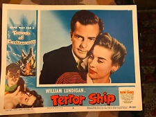 Terror Ship 1954 Lippert portrait lobby card William Lundigan Naomi Chance