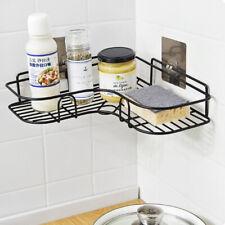 Bathroom Corner Storage Shower Rack Shelf Organiser Basket Suction Shelf Tidy